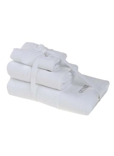 Morhipo Home Guest Nakışlı 3'lü Bukle Havlu Beyaz